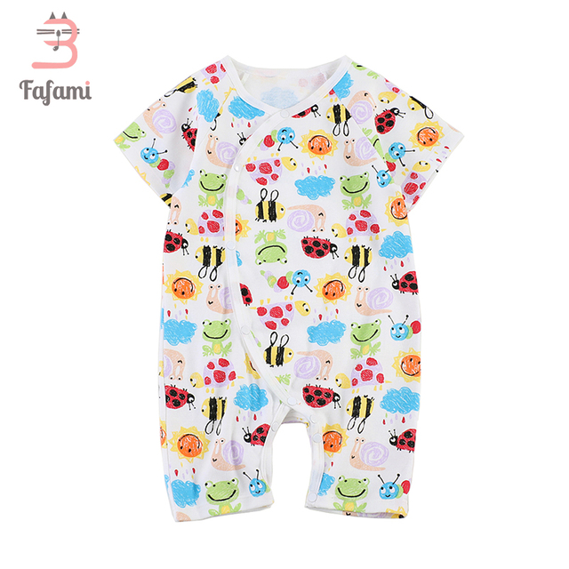 e82cb7bdc628 Print Baby Rompers Combed Cotton New Born Baby Clothes Jumpsuits For ...