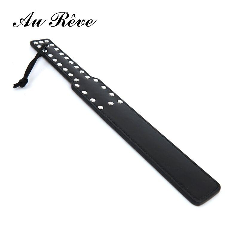 AuReve-BDSM-Long-Whip-PU-font-b-Paddle-b