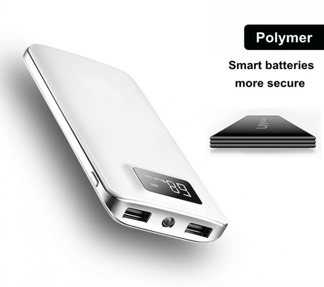 30000 mah Power Bank Externe Batterie Pack LCD Display Tragbare Dual USB Ports Telefon Ladegerät Für iPhone Tablet Telefon
