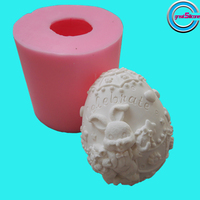 2015 New 3D Silicone Mold Rabbit Shaped 3D Soap Mold Silicone Candle Mold For Free Shipping