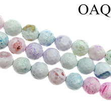 6-14mm Natural Stone Beads Wholesale Beads Colorful Fire Onyx Round Loose Fashion Agat Beads For Jewelry Making Diy