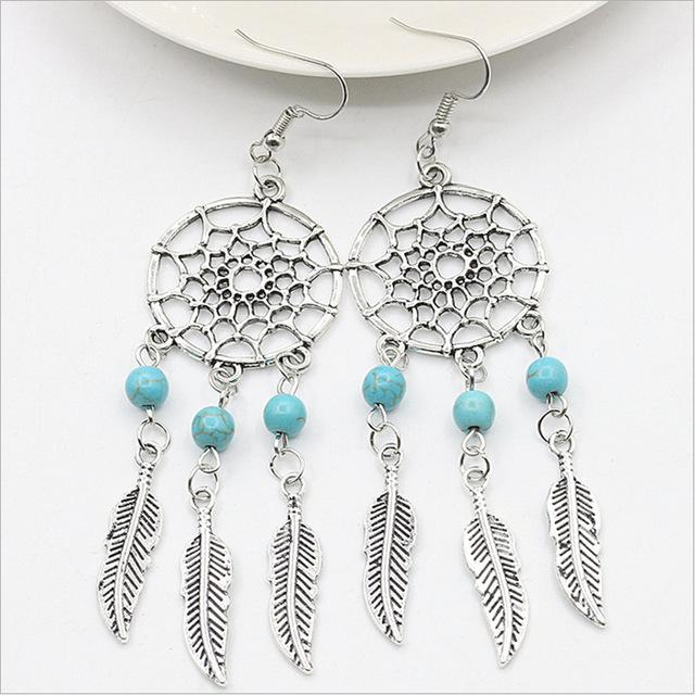 Trendy Dream Catcher Earrings