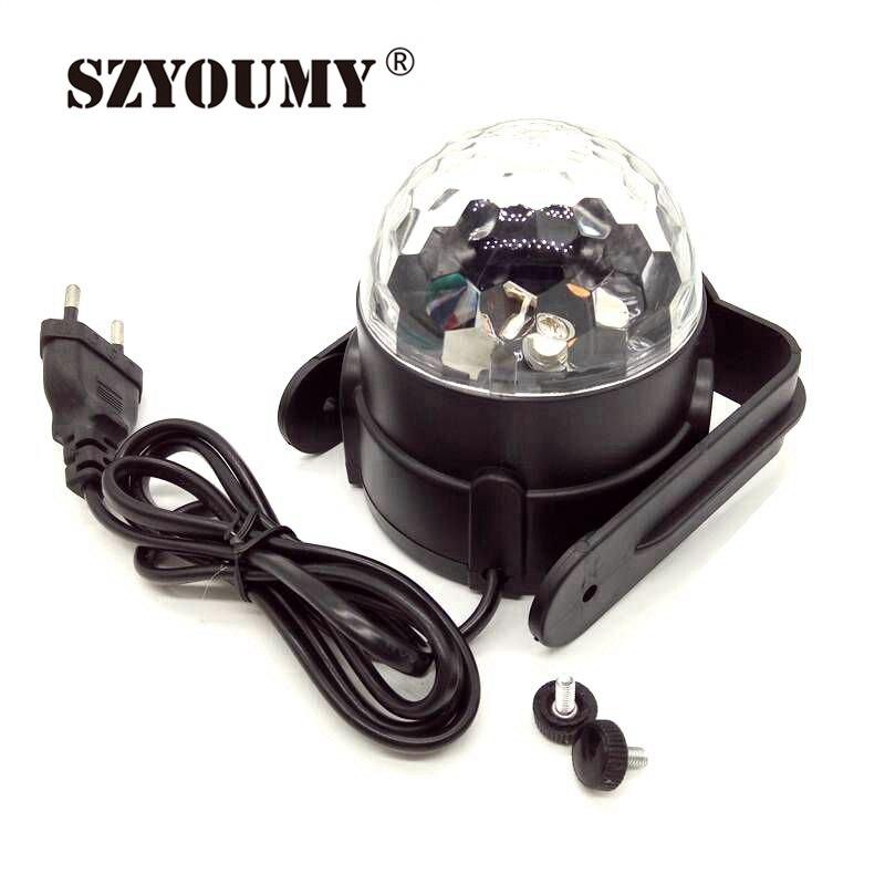 SZYOUMY Sound Activated Disco Lights Rotating Ball Lights 3W RGB LED Stage Lights For Christmas Home KTV Xmas Wedding Show Pub