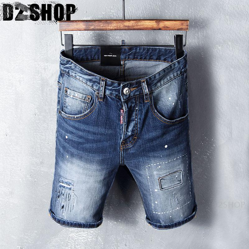 shorts cowboy hole summer new casual fashion slim pants pants five feet students