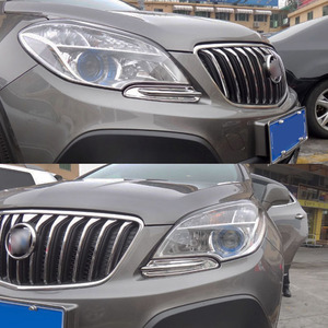 Image 5 - พอดีสำหรับOpel Vauxhall Mokka/Buick Encore Chromeด้านหน้าTrim Head Lamp Bezel Granish Molding 2012 2013 2014 2015 2016