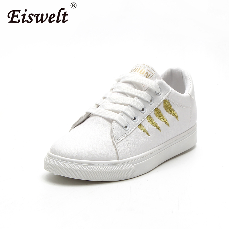 EISWELT Fashion Women Shoes Women Sneakers Casual Shoes Comfortable Damping Eva Soles Platform Shoes for All Season Hot Selling