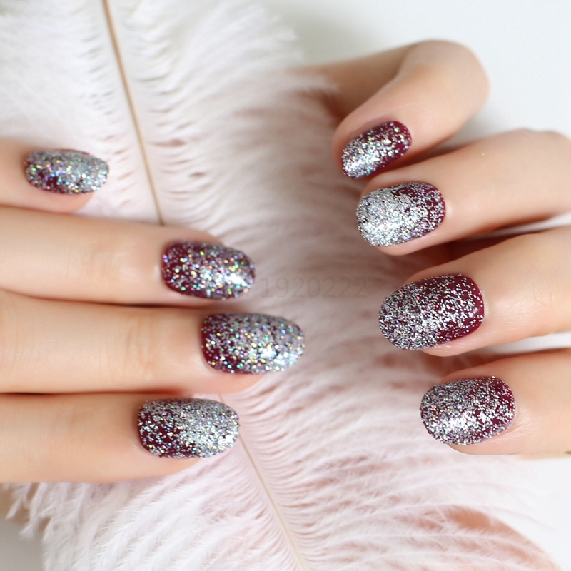 2017 Hot Sell Tiny Pink Acrylic Nails Decorative Sequins