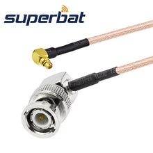Superbat коаксиальный BNC штекер под прямым углом к MMCX разъем правый угол помощью соединительного кабеля RG316 15 см Удлинительный кабель bnc