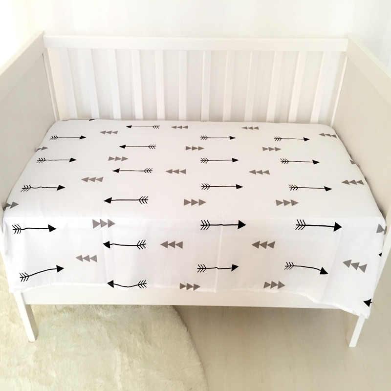 1 ud. Sábana de muselina 100% de algodón para recién nacidos, sábanas suaves para cuna, juego de sábanas de 140x90 cm