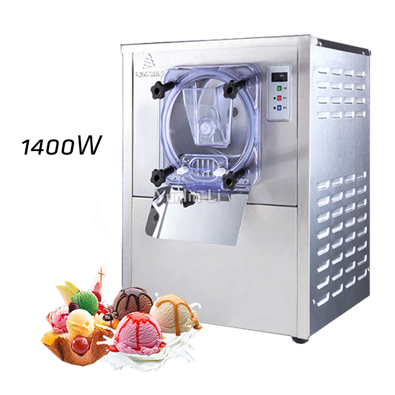 Commercial Hard Ice Cream Machine Automatic 304 Stainless Steel Hard Ice Maker 1400W Snowball Making Machine BQL-112Y commercial automatic ice maker household electric bullet round ice making machine 15kg 24h family small bar coffee teamilk shop