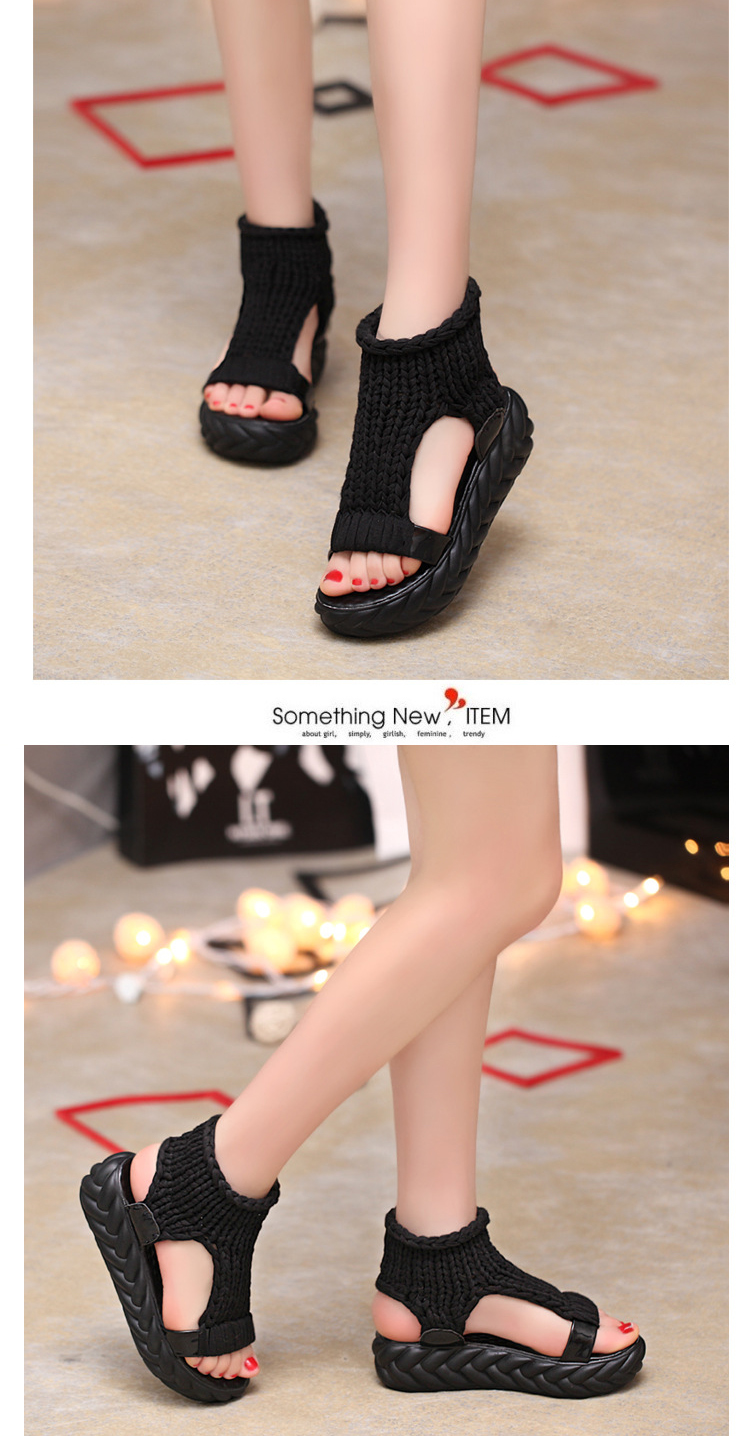 HTB1iBtdeH3nBKNjSZFMq6yUSFXaK 2019 New Casual Summer Shoes Women Comfortable Wool Ladies Platform Sandals Knit High Heels Grey Rose Red Sandales