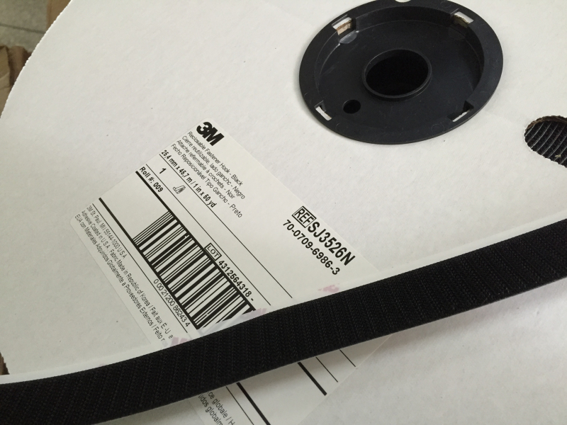 Free Shipping 1roll 25.4mmx45.7m 3M SJ3526N Hook Reclosable Fastener Black 1 in x 50 yd 3 rls/case rolsen kw 3526 black