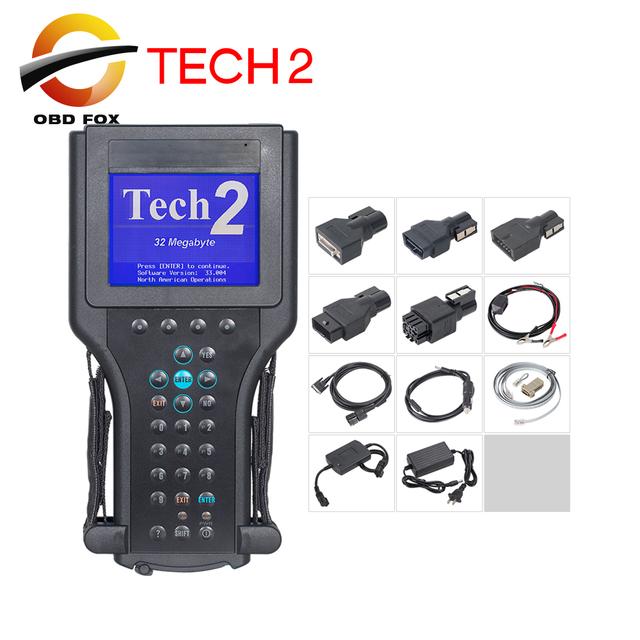Professional for G-M Tech 2 scanner TECH2 Scan tool diagnostic tool for saab for opel scanner with 32mb card DHL free