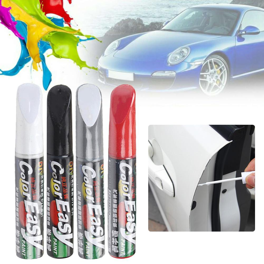 For Color Easy 12ML Car Paint Scratches Repair Pen Brush Silver Black White Red Waterproof Paint Marker Pen Automotive Maintain
