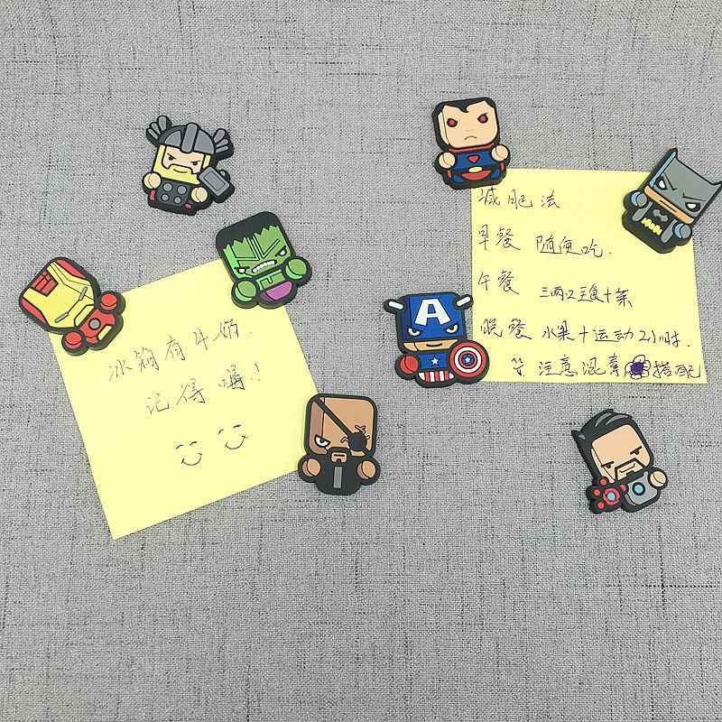 Lucu Pahlawan Marvel Avenger Kartun Gambar Magnet Kulkas Souvenir Ikon Stiker Magnet Kulkas Hadiah Natal Dekorasi Rumah Hadiah Anak