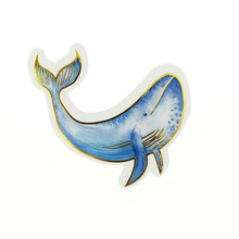 24Pcs DIY  Island Whales Hand Account  Fridge Magnets DIY Scrapbook Label for DIY Scrapbooking Diary Phone Refrigerator Sticker