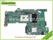 FRU 04Y2024 P0C55212 For lenovo thinkpad L530 laptop motherboard intel HD4000 HM76 DDR3