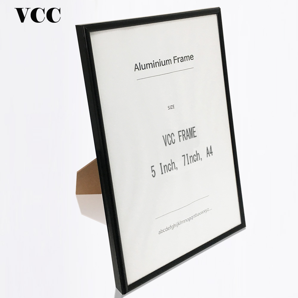Desktop Metal Photo Frame Black Silver Picture Frame 9x13 13x18 21x30cm Pleix Glass Inside Classic Minimalist Certificate Frame in Frame from Home Garden