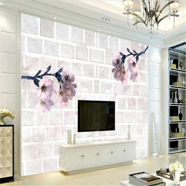 Custom Orchid Wallpaper Romantic 3d Wall Murals Wallpaper Embossed  Non Woven TV Background Study Kitchen