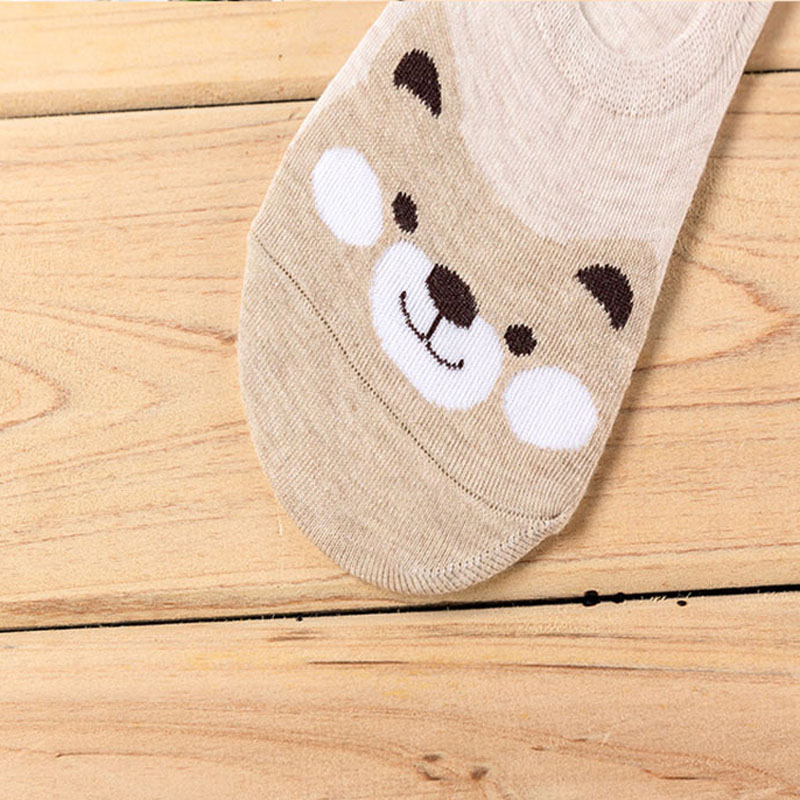HTB1iBuQQhTpK1RjSZR0q6zEwXXal - 5 Pairs/lot Women Socks Candy Color Small Animal Cartoon Pattern Boat Sock for Summer Breathable Casual Girls Funny Fashion