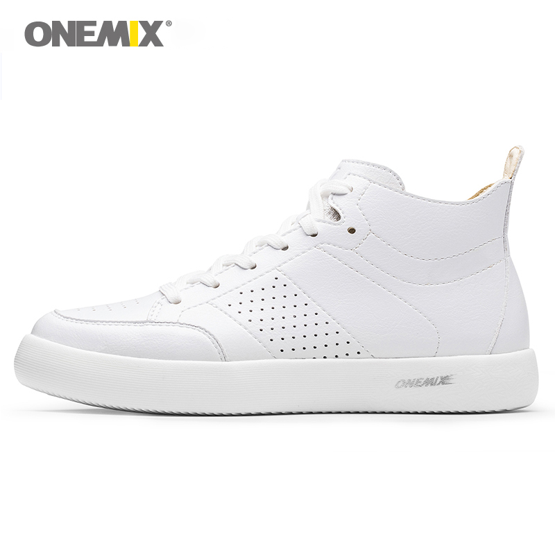 ONEMIX skateboarding shoes light cool sneakers soft micro fiber leather upper elastic outsole men shoes walking EUR size 39 45|Skateboarding| |  - title=