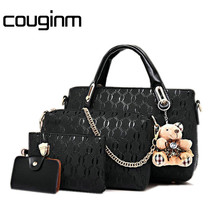 Berühmte Marke Frauen Mode Frauen Messenger Taschen Und Handtasche Sets Pu-leder Verbund Designer-handtaschen Hoher Qualität