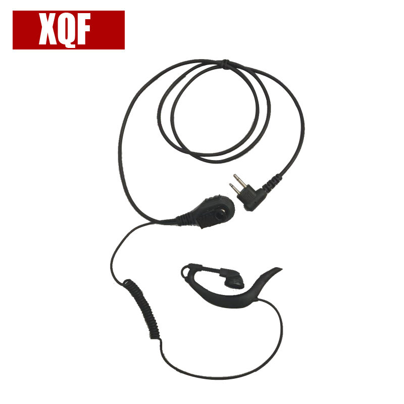 XQF Walkie Talkie Lapel-style Fashion PTT G Earpiece  For Motorola 2 Pin EP450 GP2000 GP88 Two Way Radio
