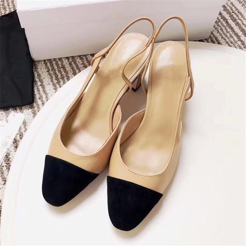 Women Genuine Leather Shoes High Heel Mary Jane Shoes Ladies Pumps Sheepskin Luxury Women Shoes Fashion Mixed Color Shoes Women Lahore