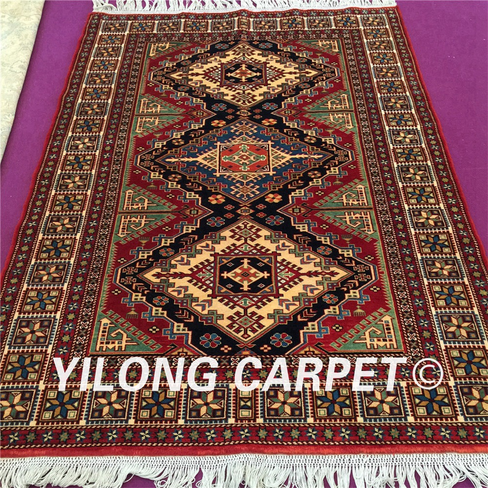 Us 3215 0 Yilong 4 9 X6 56 Hand Knotted Wool Silk Persian Area Rugs Kashan 100 New Zealand Carpet Yl31s4 9x6 In From Home