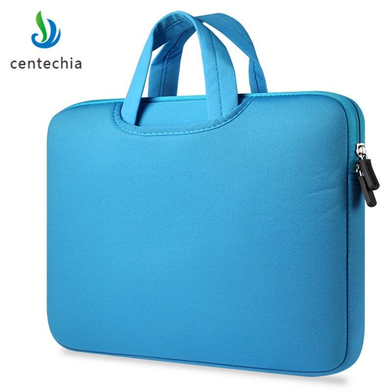 Centechia 11 13.3 15.4 15.6 inch Laptop Bag Case Laptop Handbags Sleeve Case  Zipper Computer Sleeve Case For Laptop PC Tablet-in Laptop Bags & Cases from Computer & Office