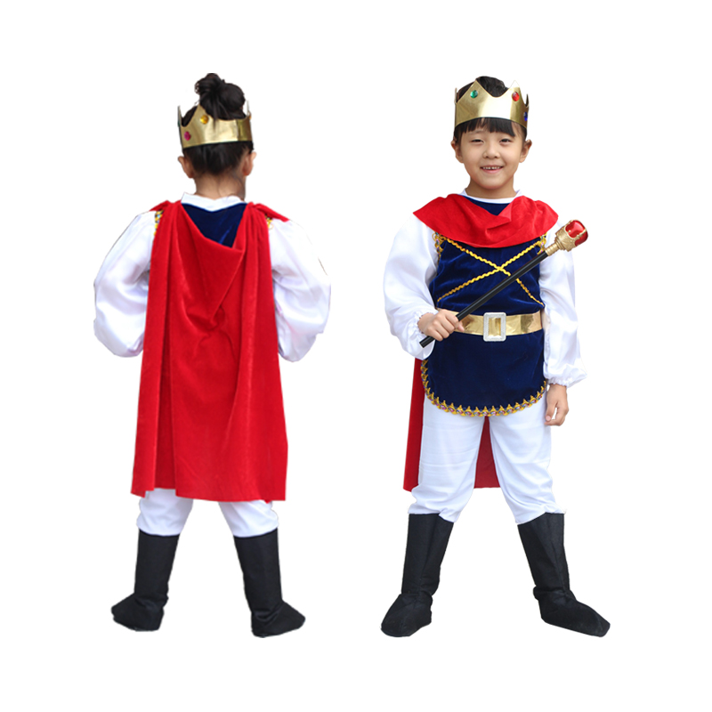 Halloween Holiday Cosplay Costume Prince for Children The King Costumes Children's Day Boys Fantasia European royalty clothing