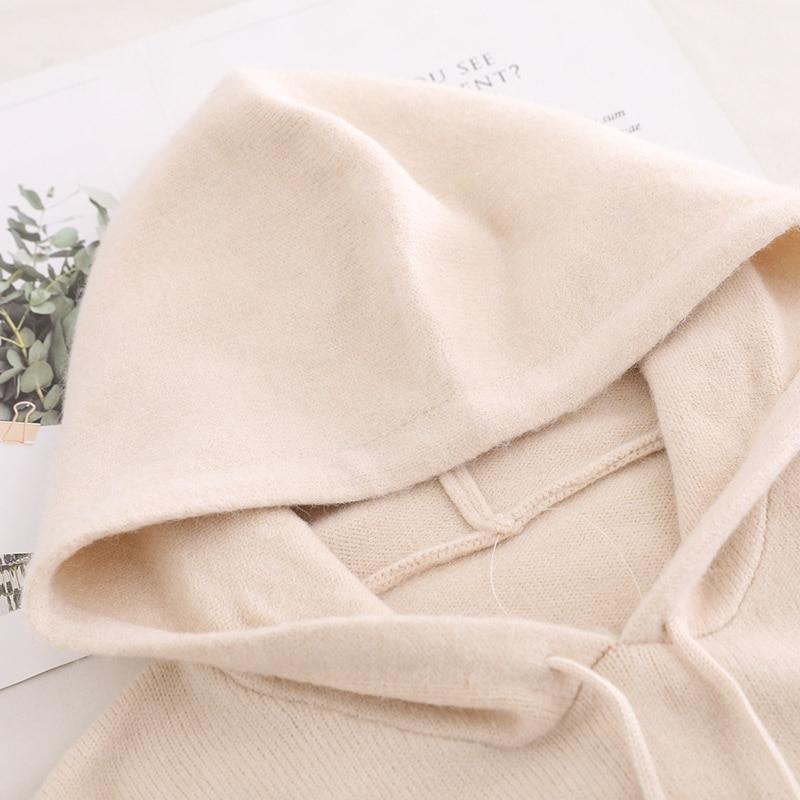 De noir À Pulls bleu Femmes Vêtements Coton Style kaki Poches Coréenne Hiver Noir Casual Tombent Chandail Kaki rouge Rouge Beige Capuchon Mode Dessus Automne 2018 wnYBqxd1
