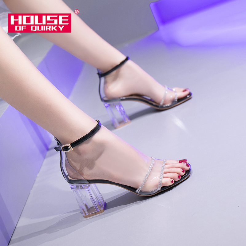 Transparent Square Heels High Heels Sexy Peep Toe Slingback Pumps Women Shoes Wedding Party Shoes for Women Summer Shoes WomanTransparent Square Heels High Heels Sexy Peep Toe Slingback Pumps Women Shoes Wedding Party Shoes for Women Summer Shoes Woman