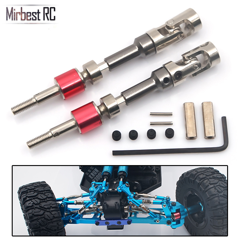DIY Parts For WLtoys 12428 12423 T-power Metal Universal Drive Accessory Kit Upgrade CVD Front Wheel Drive Shaft