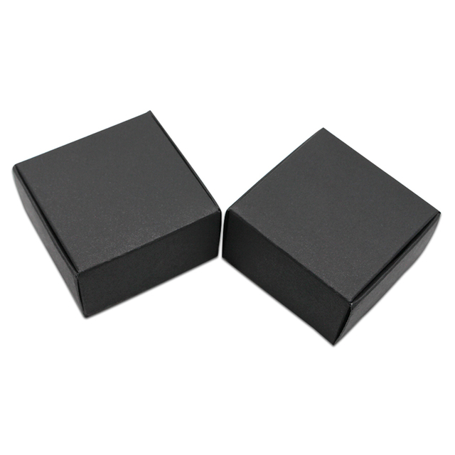Us 83 0 Dhl 400pcs Lot Black Kraft Paper Wedding Candy Jewelry Box Packaging Party Small Gift Boxes Wholesale Handmade Soap Storage Box In Gift Bags