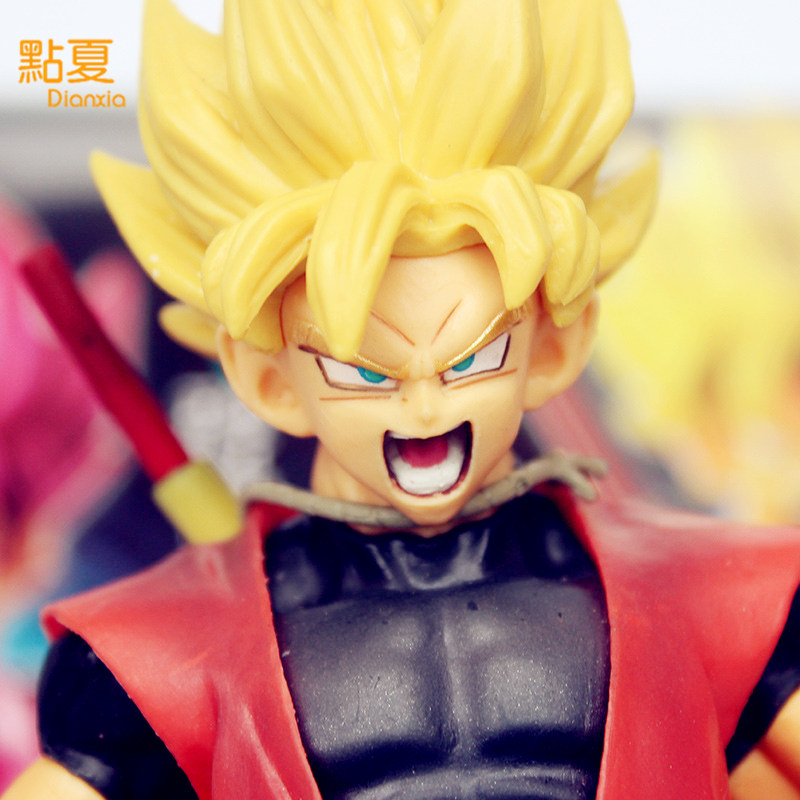 DIANXIA 1Pcs New Arrival Anime Dragon Ball Yellow Hair Son Goku Action Figure Toy PVC Box Size 12*9*20cm With Box High 22cm newest arrival 1pcs anime love live 2 generation kousaka honoka sex style action pvc figure toy tall 22cm in color box