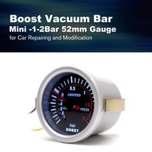 CNSPEED YC101310 Digital Universal 52mm Car Turbo Boost Vacuum -1~2 BAR Gauge Press Pressure Gauge Pointer Meter Smoke Len LED(China)