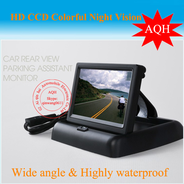 Free shipping 4.3inch stand security TFT Car monitor for car rear view camera with high resolution and digital panel