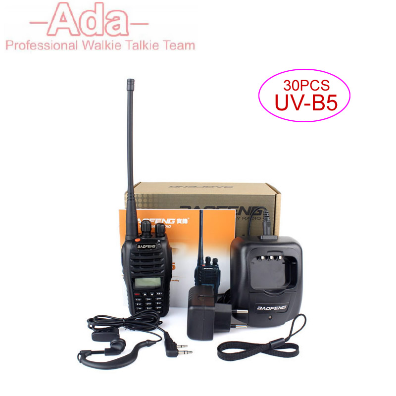 30PCS baofeng uv-b5 Walkie Talkies Two Way Radios Dual Band Mobile Radio For Police Equipment Hf Transceiver Ham Radio Portatil