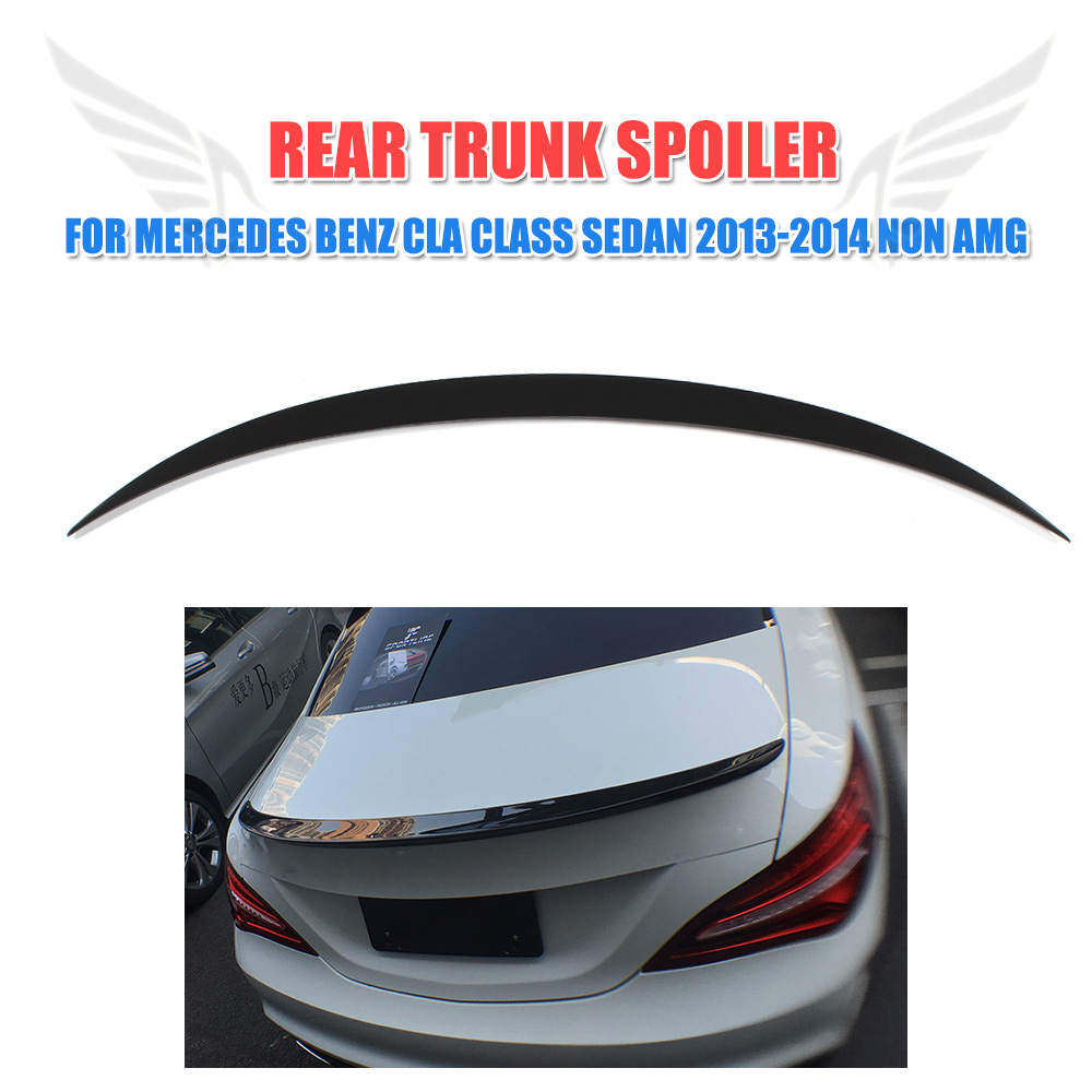 Rear Trunk Spoiler Boot Wing for Mercedes Benz CLA Class CLA250 CLA200 CLA180 CLA220 CLA260 Sedan 2013-2014 Non AMG FRP Black цена