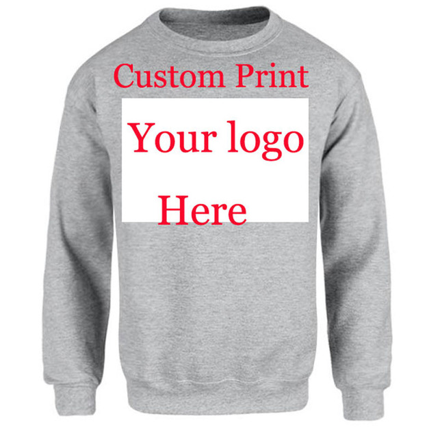 d8570cec145be US $21.0 |Cutom Print Logo Sweatshirt Jumper Unisex custom photos print  Embroidery Silk Screen Transfer Digital Printing Name Text Design-in  Hoodies & ...
