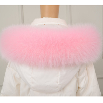 2020winter new real fox fur collar down coat cotton clothing hat special hat cap collar image