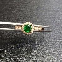QI xuan_fashion jewelry_colombia зеленый Камни модные rings_plated розовое золото Колумбия зеленый Женщина Rings_Factory непосредственно продаж