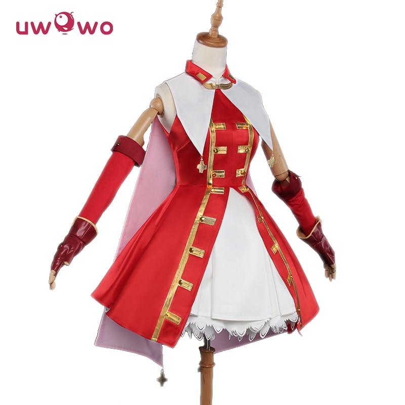 UWOWO Tohsaka Rin Cosplay Destino Gran orden Artesanía Esencia Mágico Vestido rojo rubí Traje Destino Gran orden Cosplay Rin Tohsaka