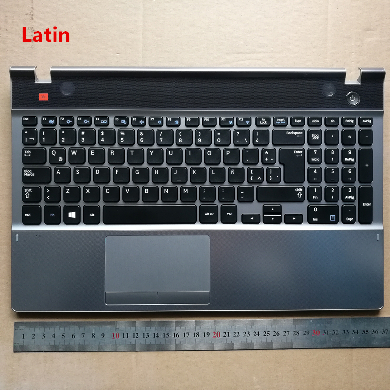 Germeny/Latin layout New laptop keyboard with touchpad palmrest for Samsung 550P5C NP550P5C ru latin layout backlit new laptop keyboard with touchpad palmrest for samsung rf712 ba75 03150k