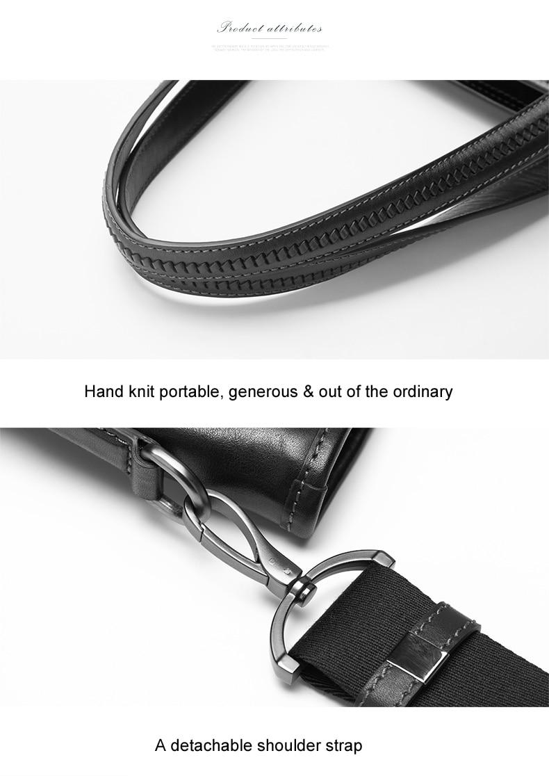 50 Brand Hommes documents Haute tout D'épaule Portable 14 Black En Design De Homme Sac Porte Véritable Des Qualité Bvp Affaires Cuir Fourre Messager