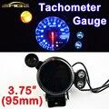 """Car Gauge 3.75"""" 95mm Tachometer Gauge 3 3/4 Inch Car Tacho Meter Blue LED with Shift Light RPM Auto Gauges 12V Black Shell"""