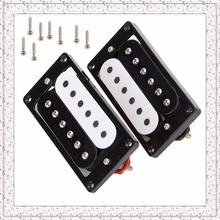1 Set Of 2 Humbucker Double Coil Electric Guitar Pickups Black/White