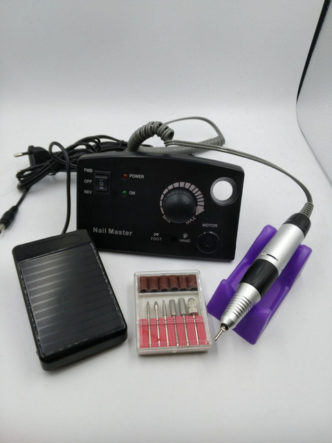 Electric Nail Drill Machine 35000 RPM 25W Pro Diamond Nail File ...