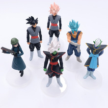 6pcs/lot 14cm Anime Dragon Ball Z DBZ Action Figure Toy Zamasu Goku Mai PVC Model Collection Doll For Kids Gift Free Shipping